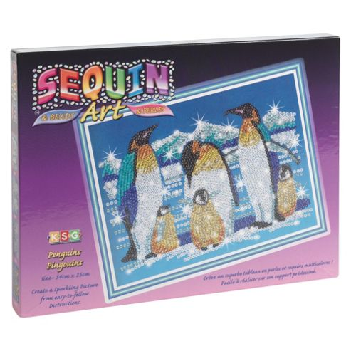 Sequin Art & Bead Penguins