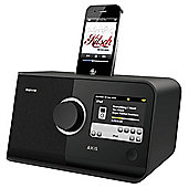 REVO AXIS WIFI/DAB/DAB+/FM INTERNET ALARM RADIO WITH TOUCHSCREEN & iPOD DOCK (BLACK)