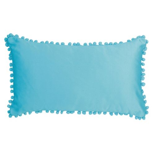 F&F Home Pom Pom Cushion, Teal