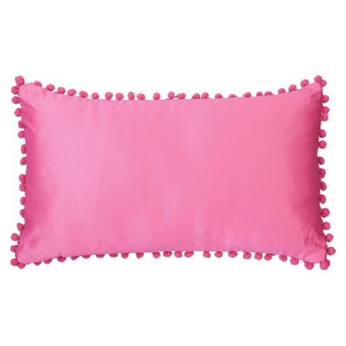 F&F Home Pom Pom Cushion, Fuchsia