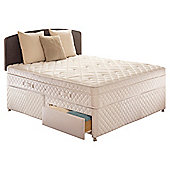Sealy King Size Divan Bed, Diamond Excellence, 2 Drawer