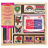Melissa & Doug Wooden Friendship Stamp Set