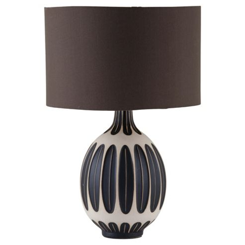 Tesco Lighting Tribal Table Lamp black Mix