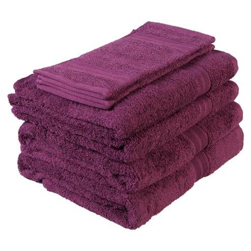 Tesco Towel Bale Aubergine
