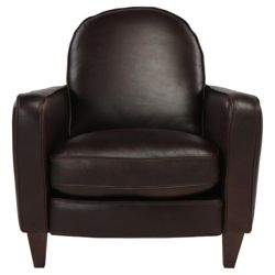 Claudio Leather Accent Chair Chocolate