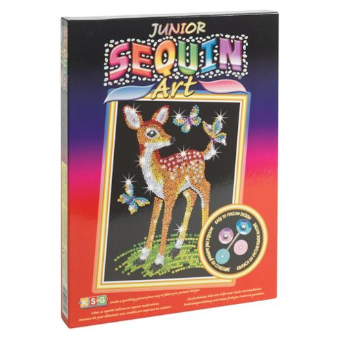 Junior Sequin Art Fawn