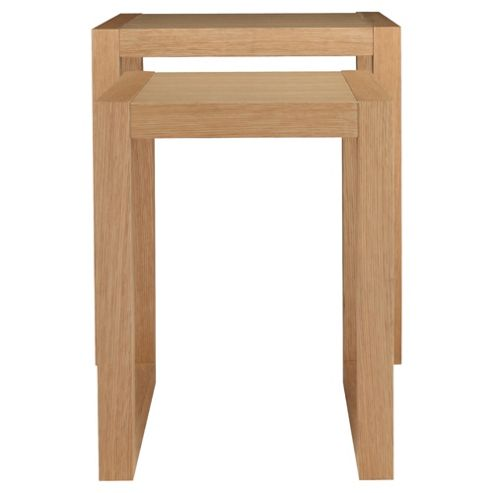 Cologne Nest Of 2 Side Tables, Oak Veneer
