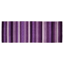 Tesco Rugs - Stripe runner plum 67x200cm