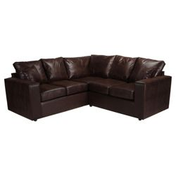 Maison Fabric Corner Sofa Mustang Chocolate