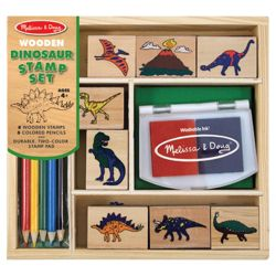 Melissa & Doug Wooden Dinosaur Stamp Set