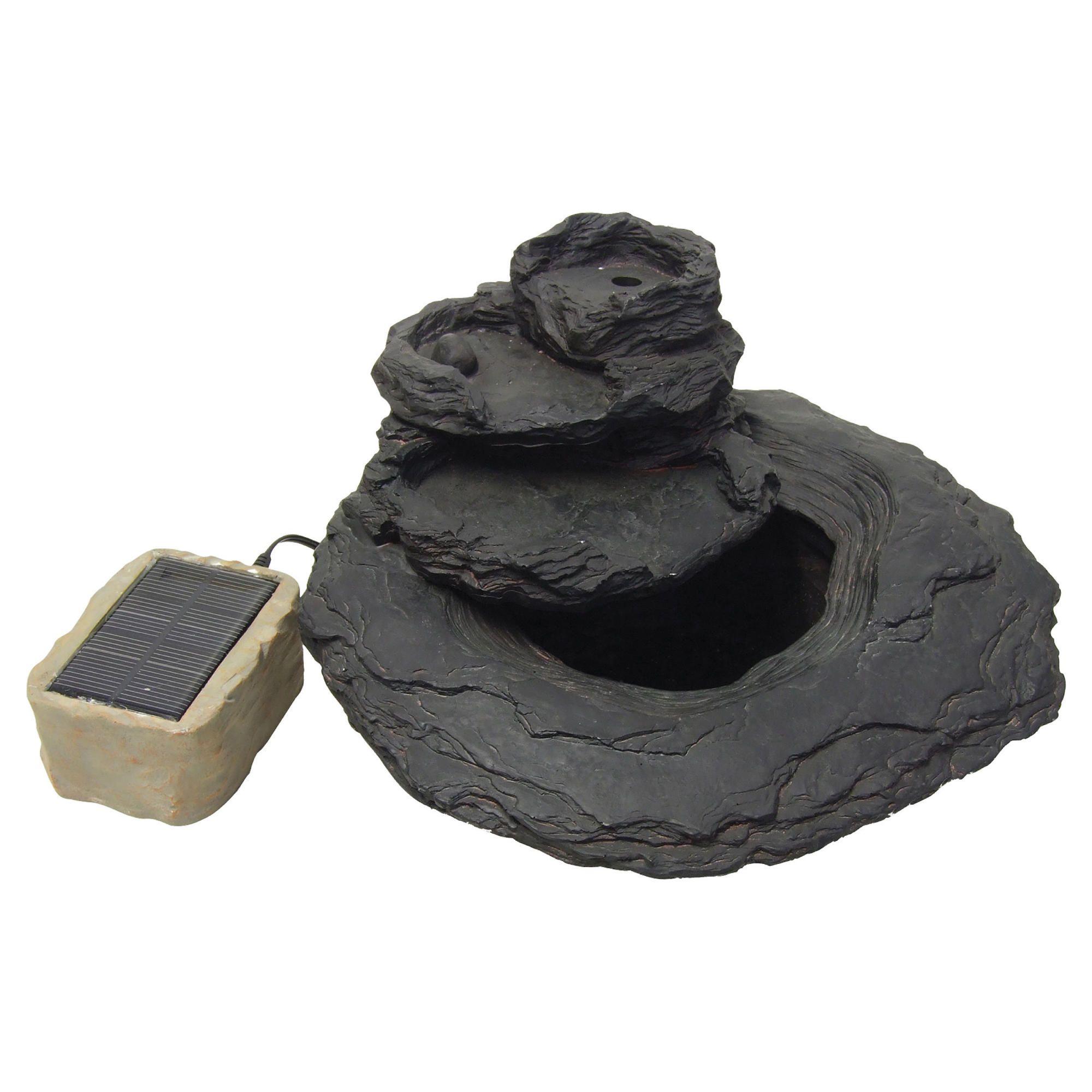 Solar Slate Water Feature 3 Tier Slate Effect