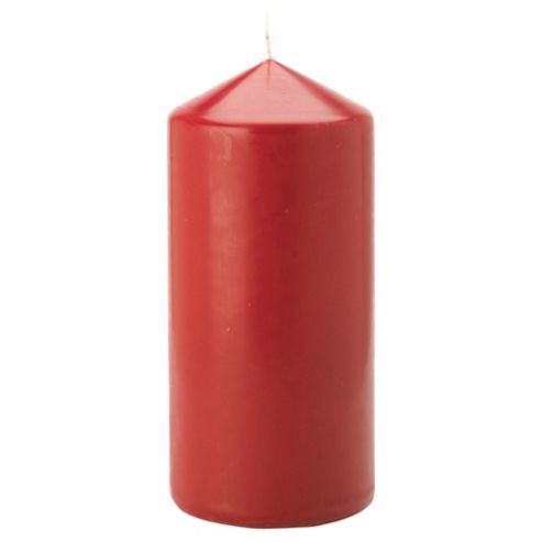 Tesco unscented pillar candle, red