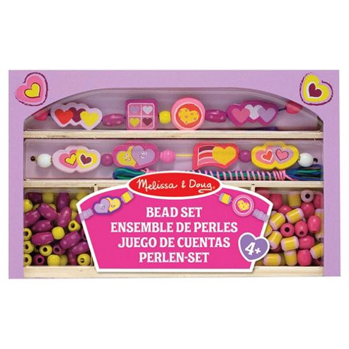 Melissa & Doug Happy Hearts Wooden Bead Set