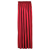 Faux Silk Lined Pencil Pleat Curtains - Red