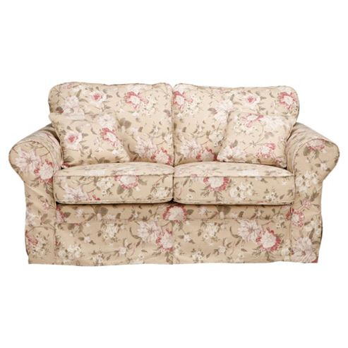 Louisa Medium 3 Seater Sofa with Removable Fabric Cover, Floral Brown