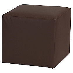 Stanza Leather Effect Cube / Foot stool Chocolate