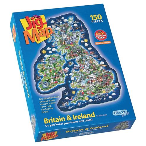The Jig-Map Britain & Ireland 150-Piece Puzzle
