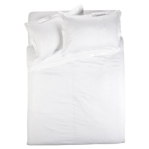 Finest Pima Cotton Herringbone Duvet Cover Set Super Kingsize