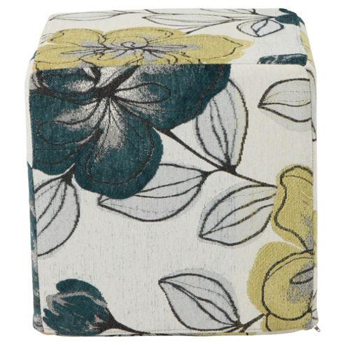 Amelie Cube Teal Floral