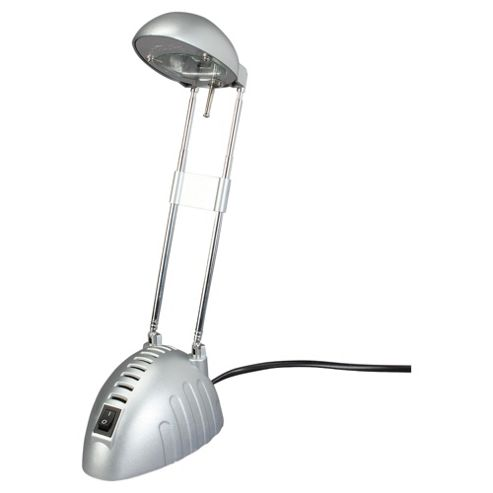 Tesco Lighting EPP halogen desk lamp silver