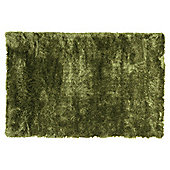Tesco Rugs Luxurious Shaggy Rug Green 150X240Cm