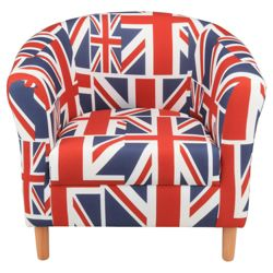 Tub Chair Union Jack Blue