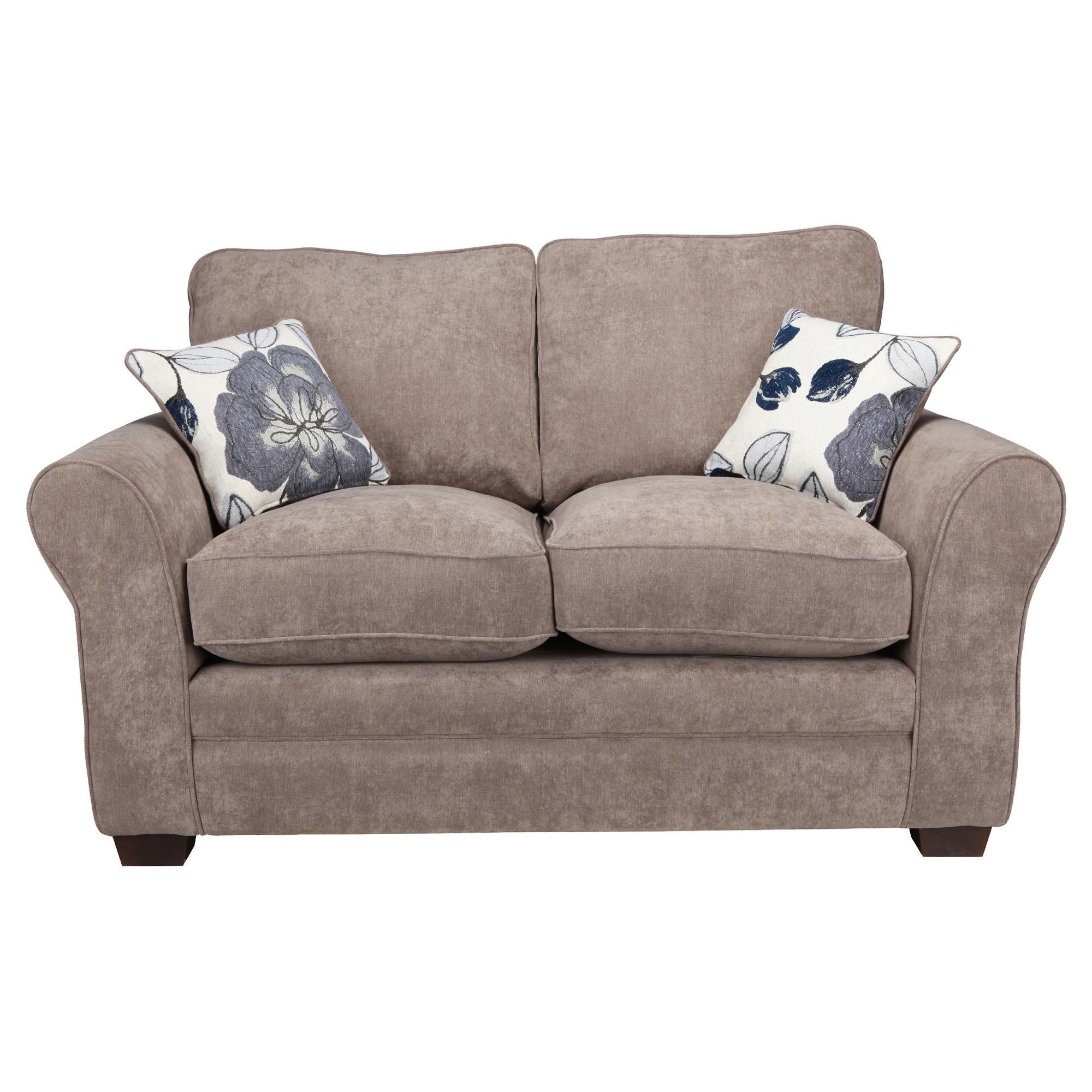 Amelie Small Standard Back Fabric Sofa Charcoal at Tesco Direct