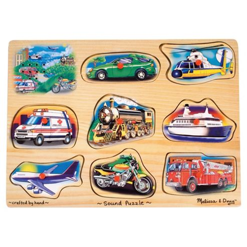 Melissa & Doug Vehicle Sound Wooden Puzzle