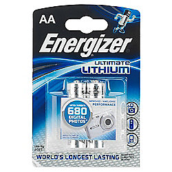 Energizer Ultimate Lithium 2 pack AA batteries