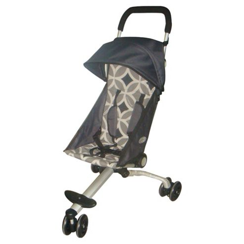 Back Pack 3 Wheeler Pushchair, Grey & Black