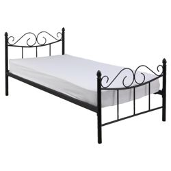 Monroe Single Bed Frame, Black
