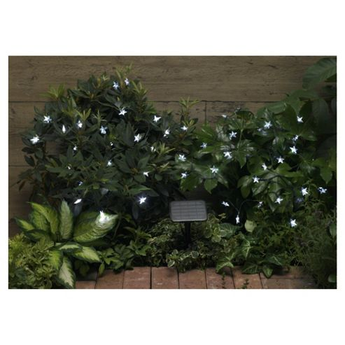 100 LEDs White Star Solar Light String
