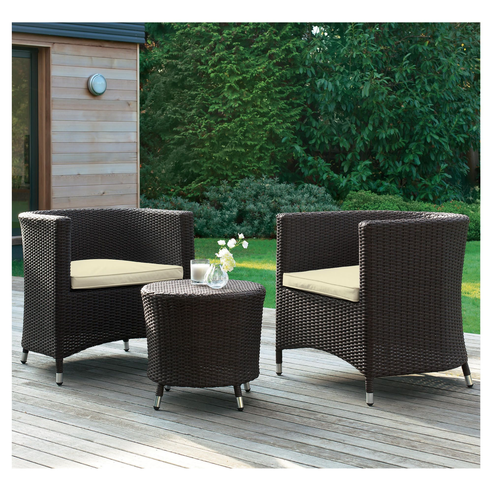 Santo Table & 2 Tub Chairs at Tesco Direct