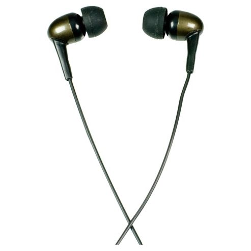 Logic 3 IP161 Stereo Earphones with Microphone Black