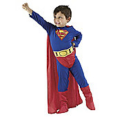 Superman Flat Chest Dress Up Large - 8-10 years