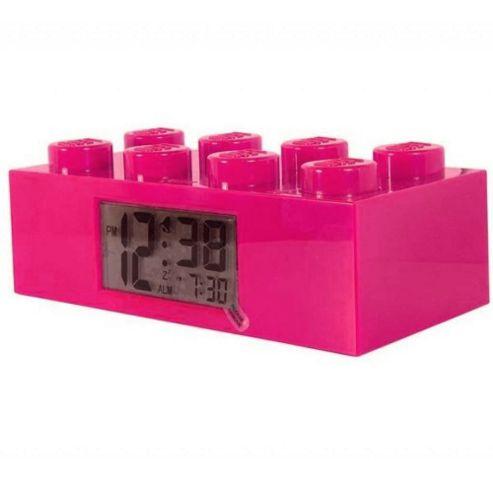 LEGO Brick Alarm Clock Pink