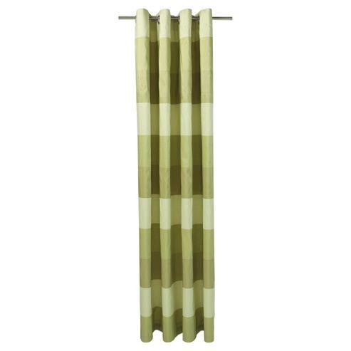 Tesco Stripe Taffetta lined eyelet Curtains W163xL229cm (64x90