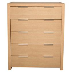 Cologne 6 Drawer Chest, Light Oak