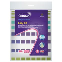 Minky easy fit ironing board cover 110 x 35cm (colours may vary)