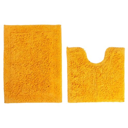 Tesco Pedestal and Bath Mat Set Amber