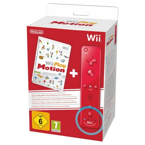 Wii Play - Motion - Bundle With Red Wii Remote Plus