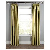 Tesco Faux Silk Lined Pencil Pleat Curtains - Green