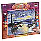 KSG Crafts Senior Painting By Numbers Harbour Sunrise
