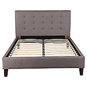 Jasmine Double High Back Fabric Bed Frame, Grey