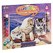 KSG Crafts Senior Painting By Numbers Huskies