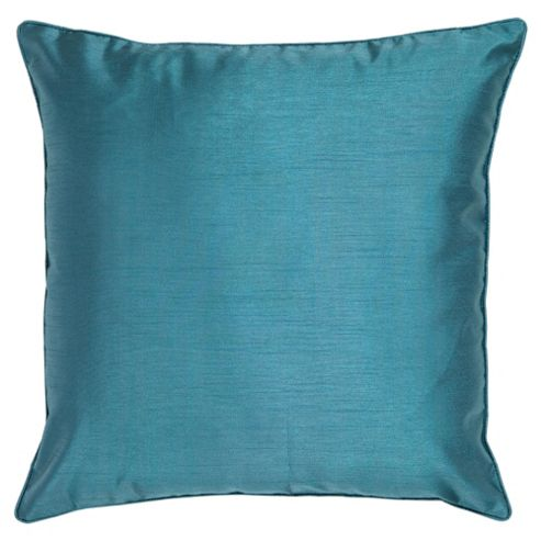 Tesco Faux Silk Cushion, Teal