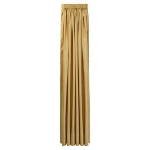 Tesco Faux Silk Lined pencil pleat Curtains W163xL137cm (64x54