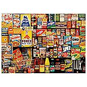 Games 1950s Shopping Basket 1000 Pieces Jigsaw Puzzle