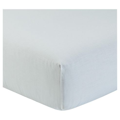 Double Deep Fitted Sheet - White