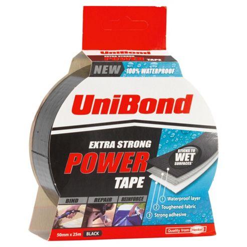 Unibond Power Tape Black 50mm X 25m